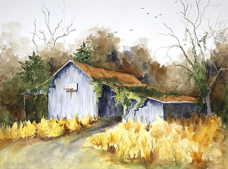 Barn Near the Woods