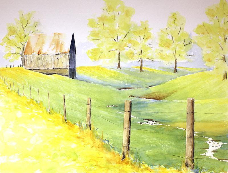 Lyons Barn - Spring Morning