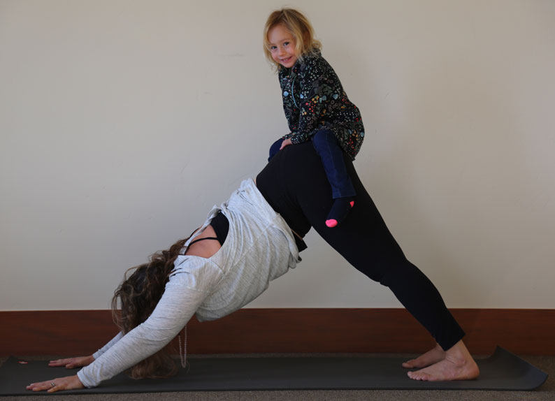 Emily and her daughter Juniper