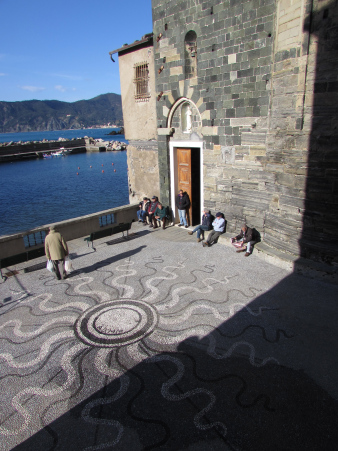 Vernazza's piazza, a hangout for locals
