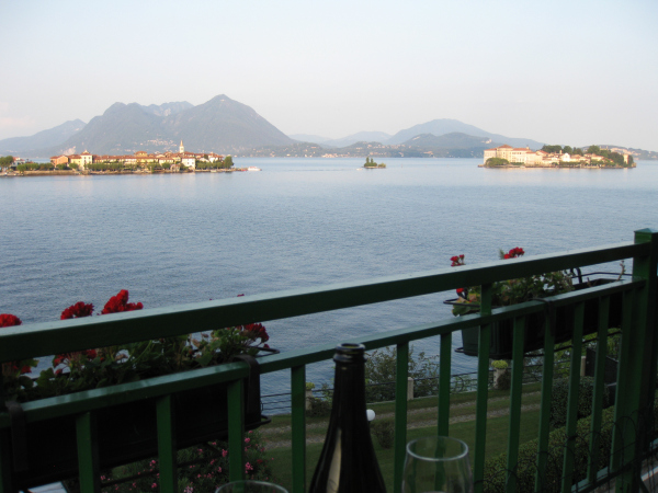 The balcony view from an affordable B&B in northern Italy.