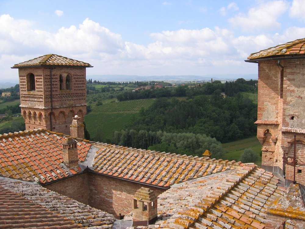 Two of the 4 towers, as seen from the tower bedroom