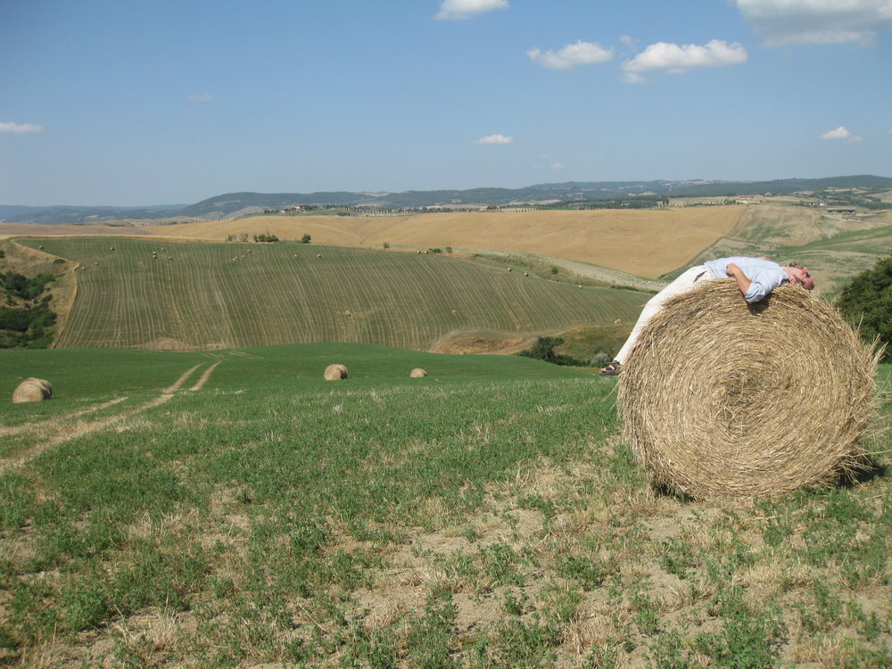 matt on haybale.JPG