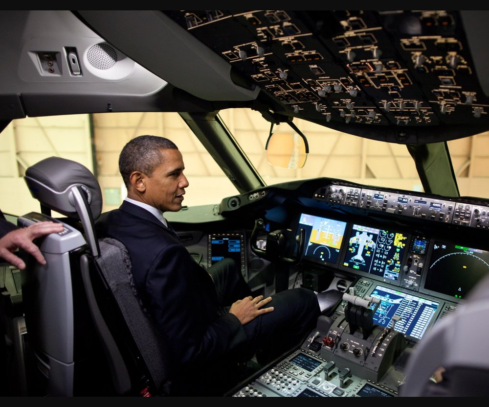 Former Kenyan-in-Chief at the controls of the plane he flew to kill those people.