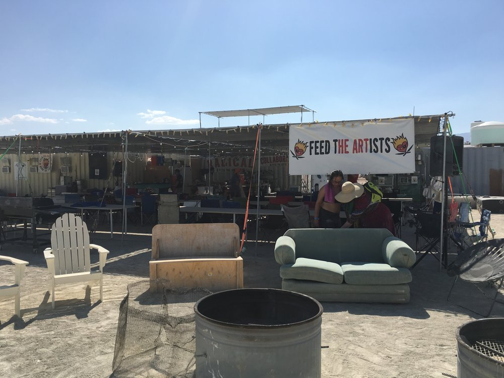 Feed the Artists camp. The people here feed as many Burning Man artists as they can...FOR FREE!