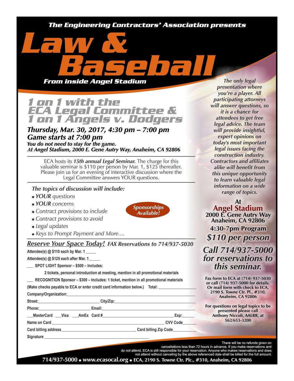 Law & Baseball