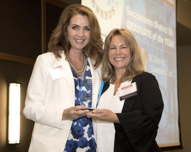 BC SCHMIDT - Congratulations to Carrie Schmidt of BC Schmidt!  Congratulations, to one of our California members, Carrie Schmidt!  Carrie with BC Schmidt Construction Inc, located in Williams, CA, was recently recognized as SBA's District 9 8(A) Graduate Of The Year.  District 9 encompasses Arizona, California, Guam, Hawaii and Nevada,  so this is a huge honor.  KUDOS TO CARRIE!(Pictured to the left is Kristan Ingebretsen with U.S. Small Business Administration's Sacramento District Office and Honoree Carrie Schmidt with BC Schmidt Construction Inc.)