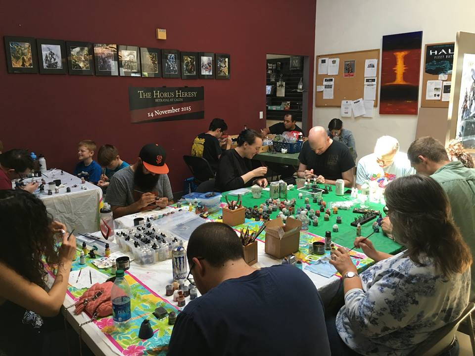 Regular Sunday class at Mythic Games, Monterey, CA.
