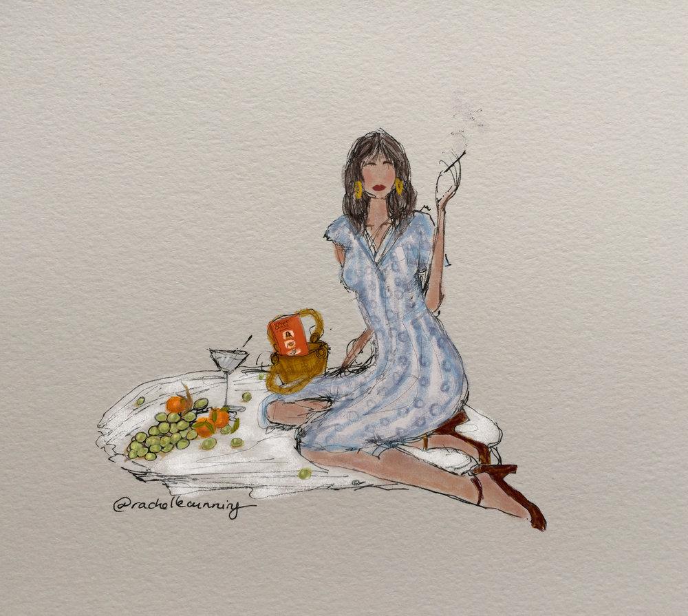 "Work  for Rouje. ""Une picnic a Paris"". September '18. Paris. FR.  (print available)"