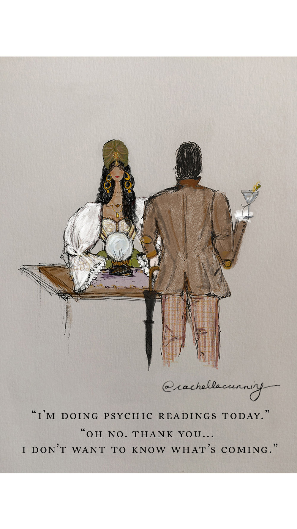 """Work  for OverheardNewYork. """"Fortune Teller. October '18. Paris FR  (print available)"""