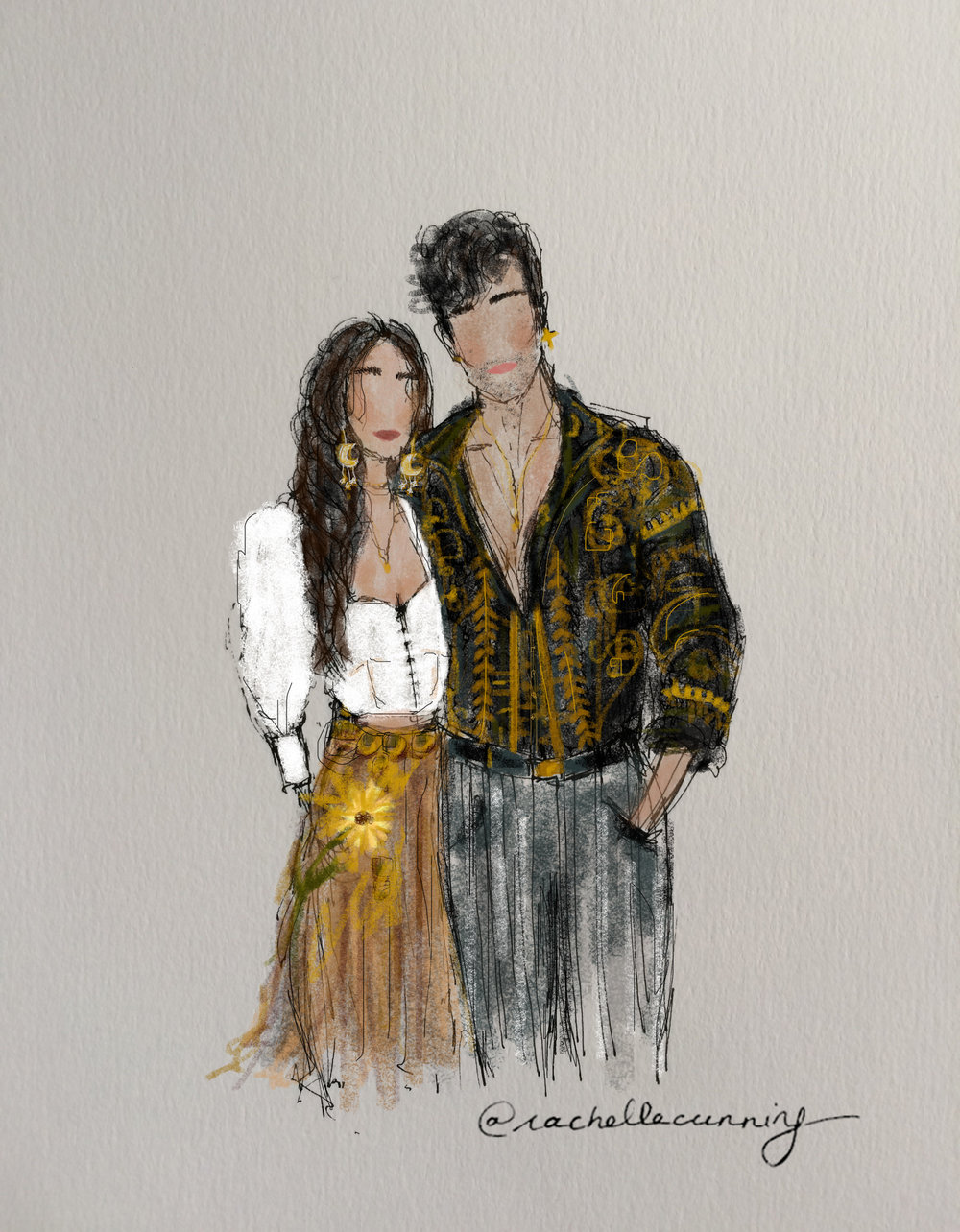 """Bohemian Couple"". February 2019. Paris FR (print available)"