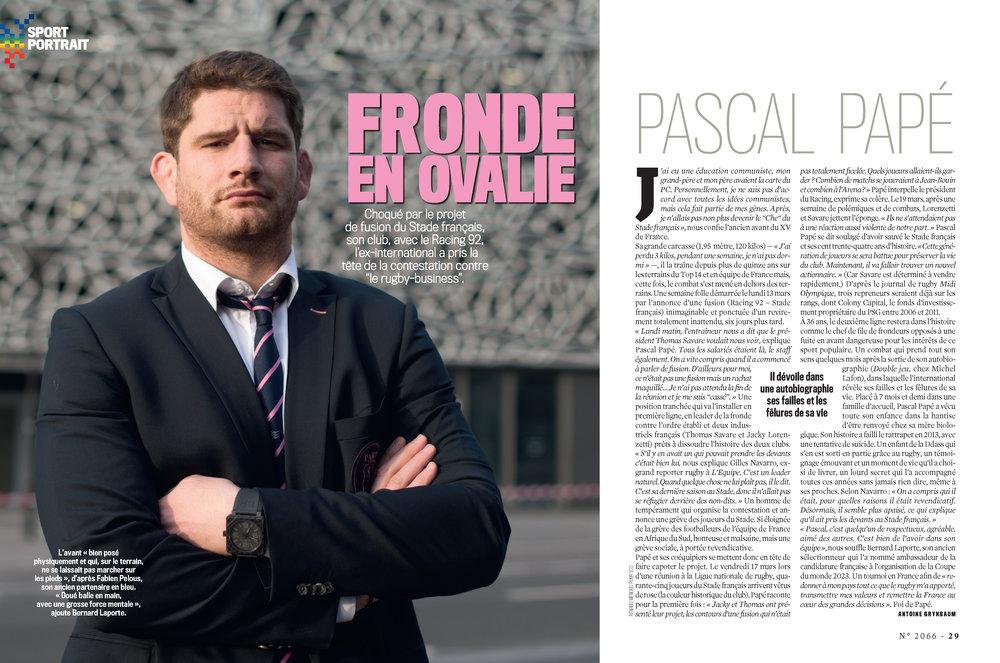 - Hebdomadaire - VSD n°2066 - Mars 2017 - Portrait Pascal Papé