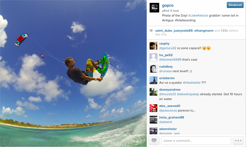 Marketing — GoPro on Instagram