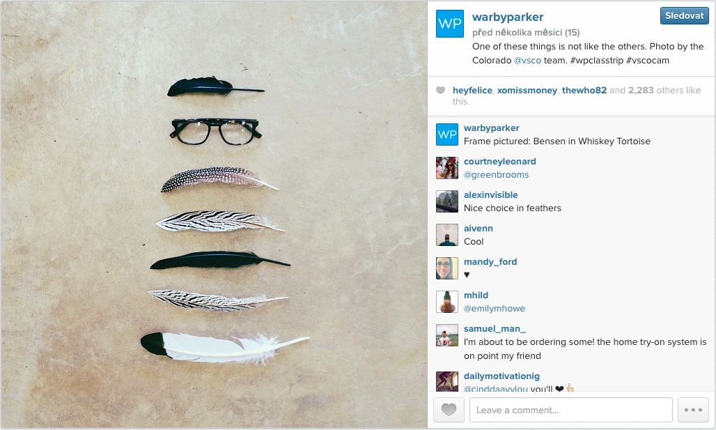 Marketing — Warby Parker on Instagram