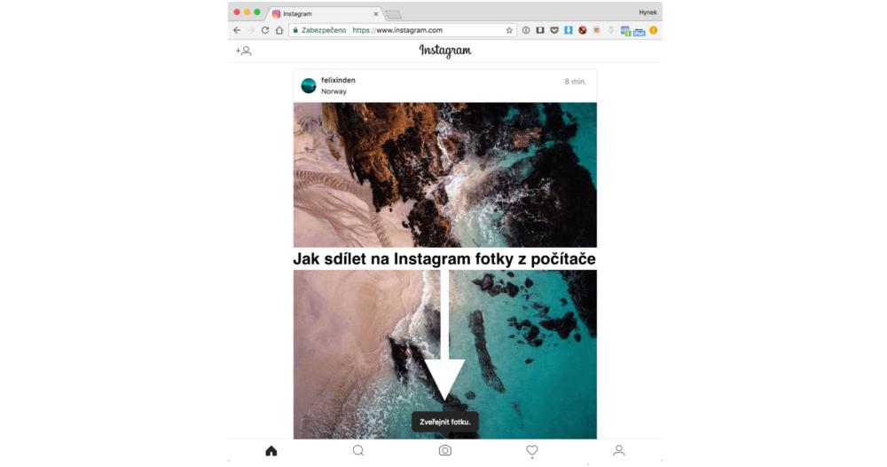 Jak sdílet fotky na Instagram z počítače
