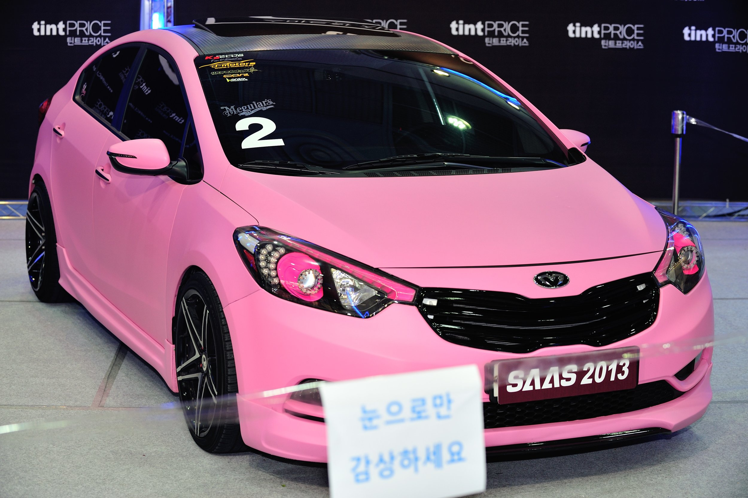 A beauty of the 2013 Seoul Auto Salon