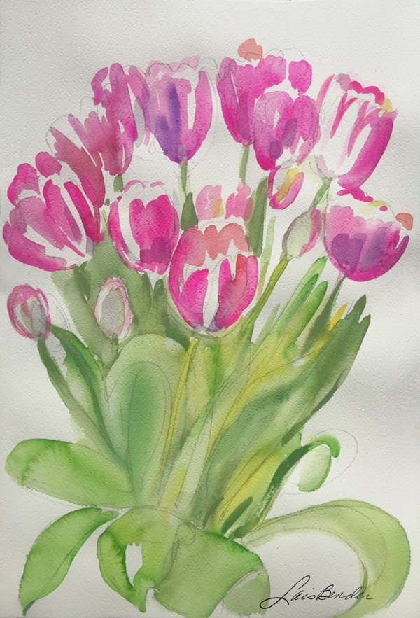 """Spring Tulips Bouquet I"""