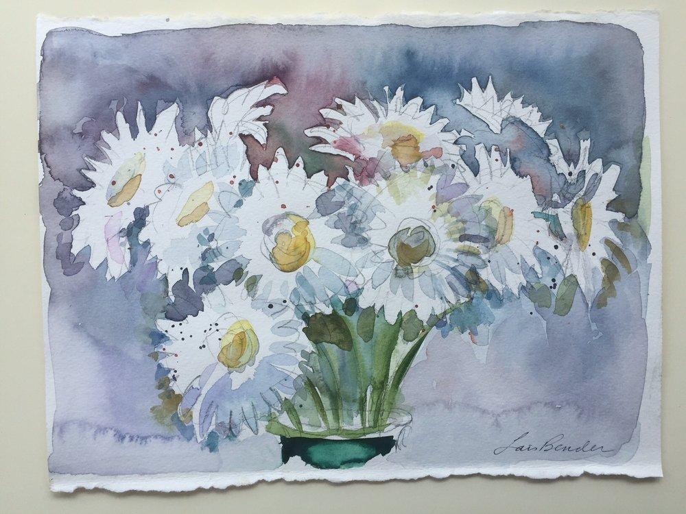 """Daisy Bouquet in Gray"""