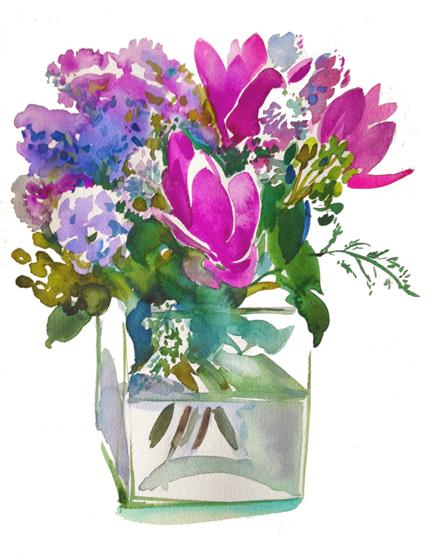 Bouquet IV — Curcumas, Alliums, Lilacs