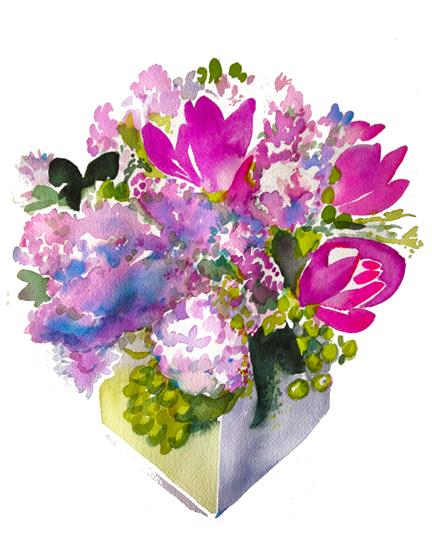 Bouquet V — Curcumas, Alliums, Lilacs