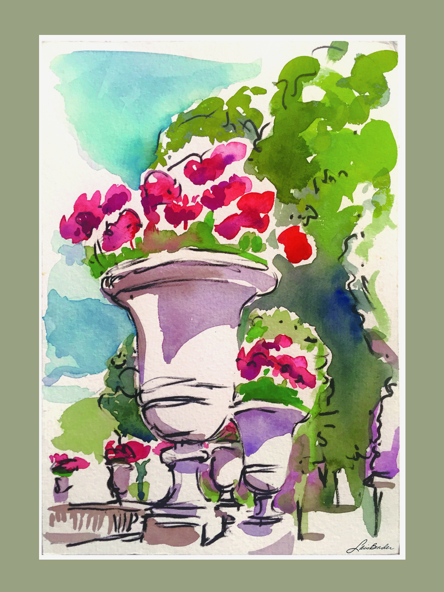 """Geraniums at Luxembourg Gardens"""