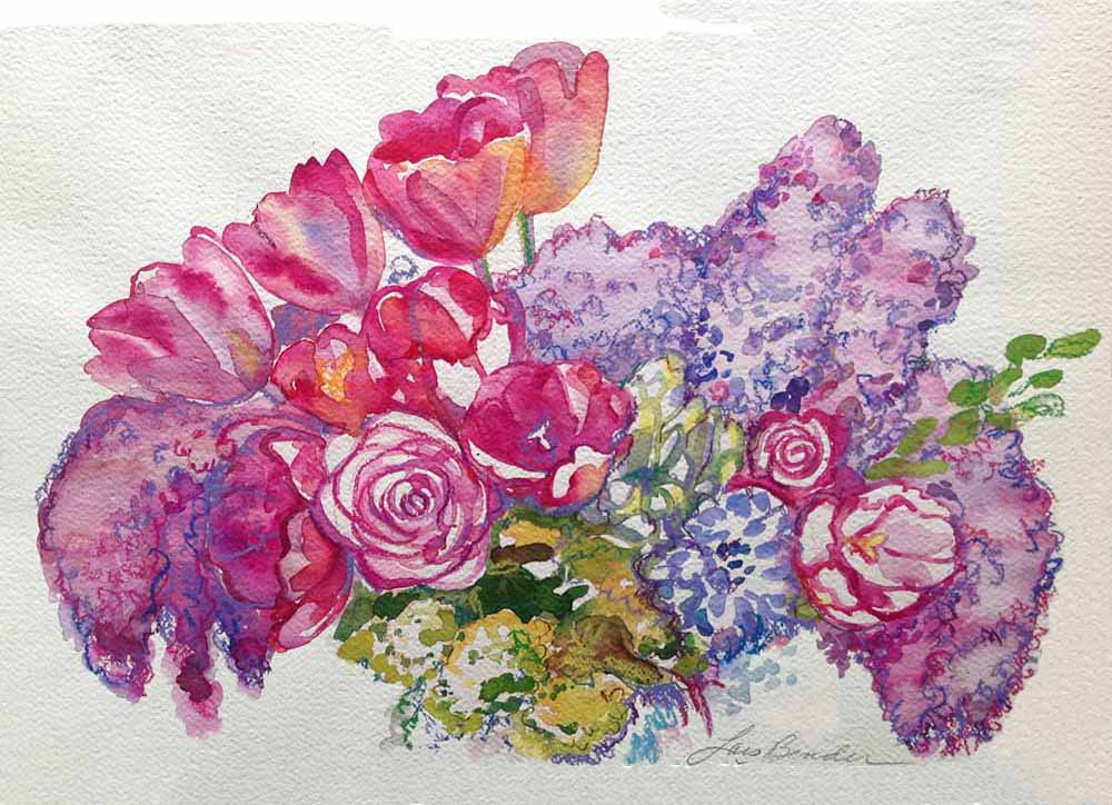 """""""Tulips, Lilacs and Roses Bouquet"""""""