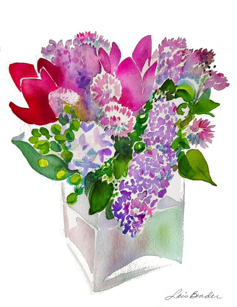 """Bouquet I — a """"Heart""""of Curcumas, Alliums & Lilacs"""