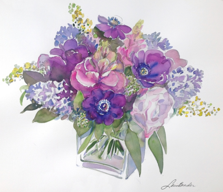 """Purple Anemones Spring Bouquet"""