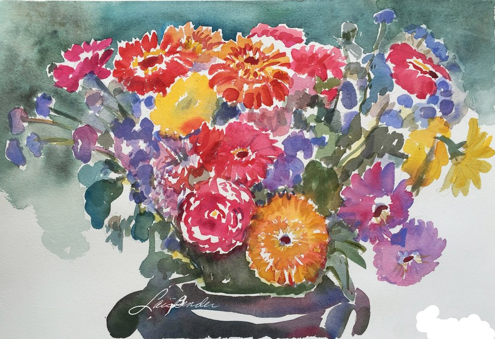 """Mums, Dalhias & Gerbers Bouquet"""