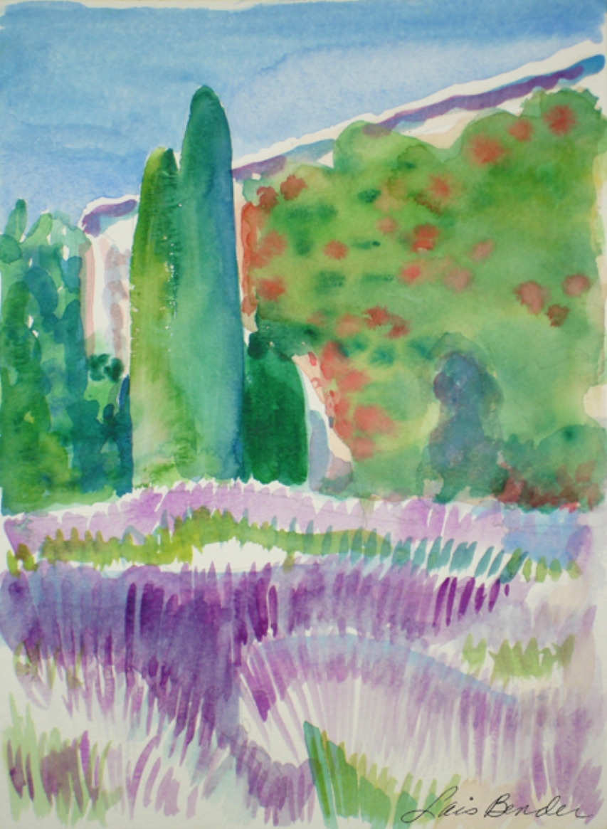"""Italian Lavender Field and Farmhouse"""