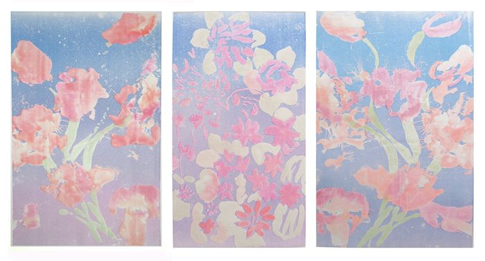 """""""Floating Tulips"""" Triptych"""