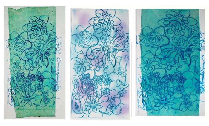 """""""Waterlilies Triptych III"""" Variation"""