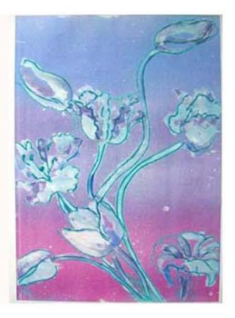 """Blue Tulips"" Original Print"