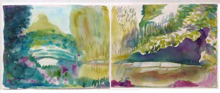 """""""Monet's Bridge & Bamboo Grove Garden at Giverny"""""""