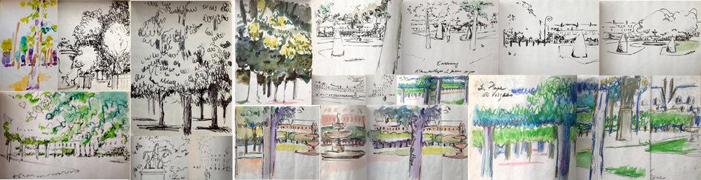 Place des Vosges Sketchbook