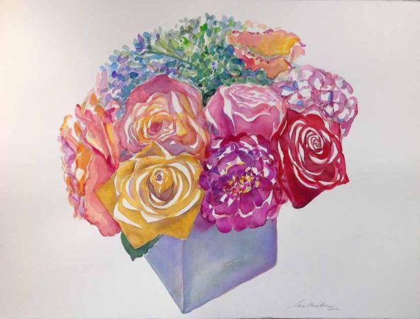 %22Roses and Hydrangeas I%22 30%22 x 22%22 Watercolor.jpg