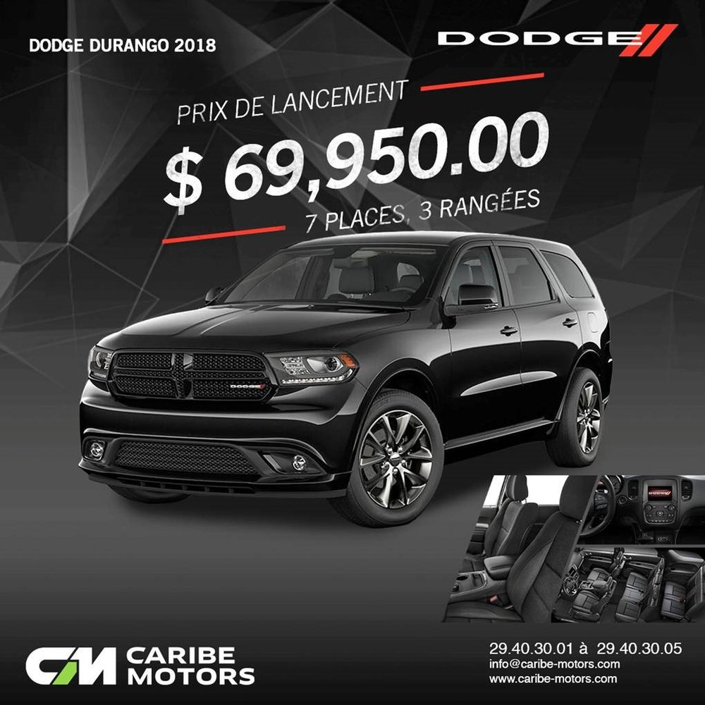 La Dodge Durango de vos rêves vous attend !