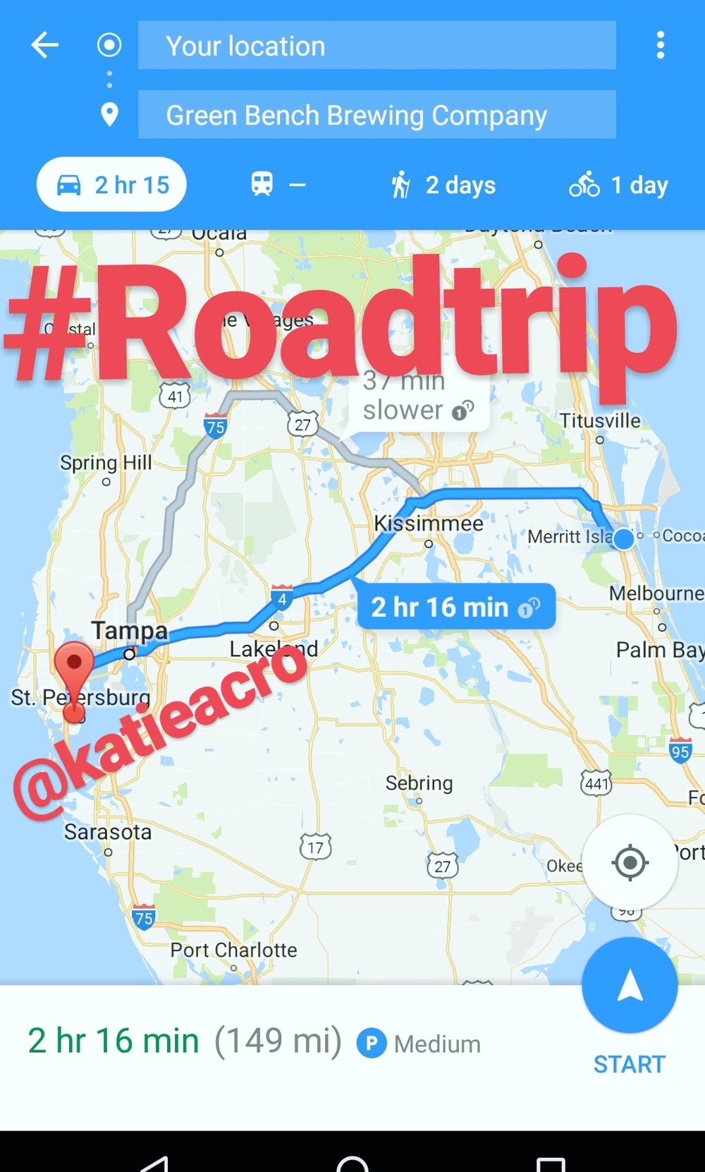 road trip orlando to st pete for acro