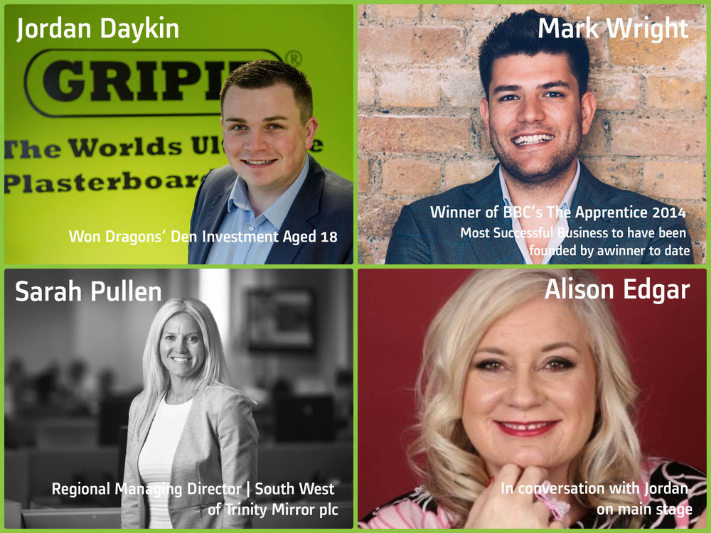 Our Keynote Speaker Line-up for our Business Showcase South West 17th May 2017