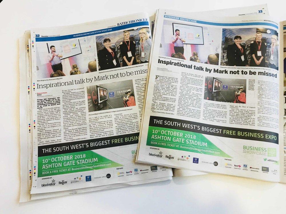 Bath Chronicle and Wstern Daily Press 060918 LOREZ.jpg