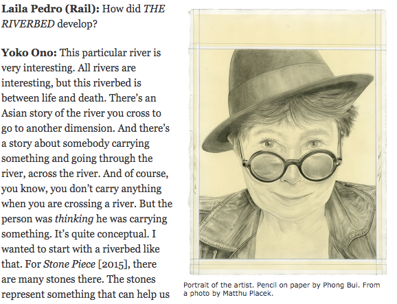 Interview | Yoko Ono, The Brooklyn Rail