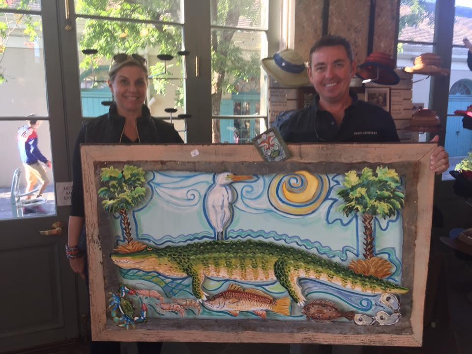 Custom art for a South Carolina home