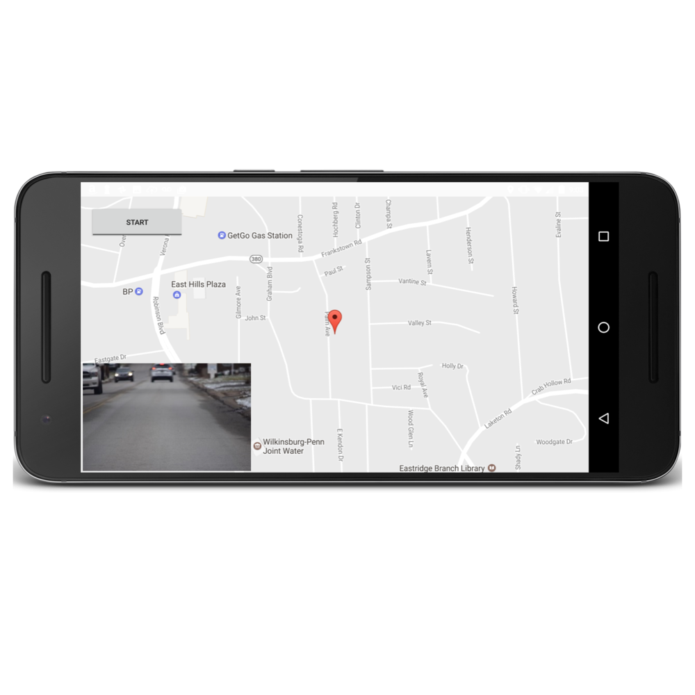 Road Data Collection with a smartphone app  -