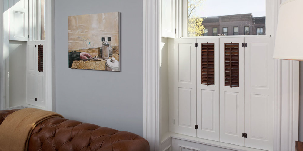 Traditional Brooklyn Brownstone Pocket Shutters