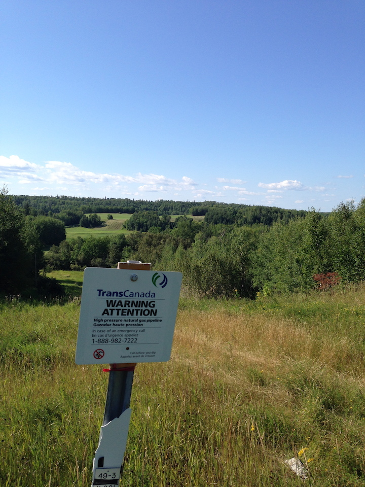 TransCanada's Energy East right-of-way at the foot of Black Sturgeon Lakes, Kenora, ON.