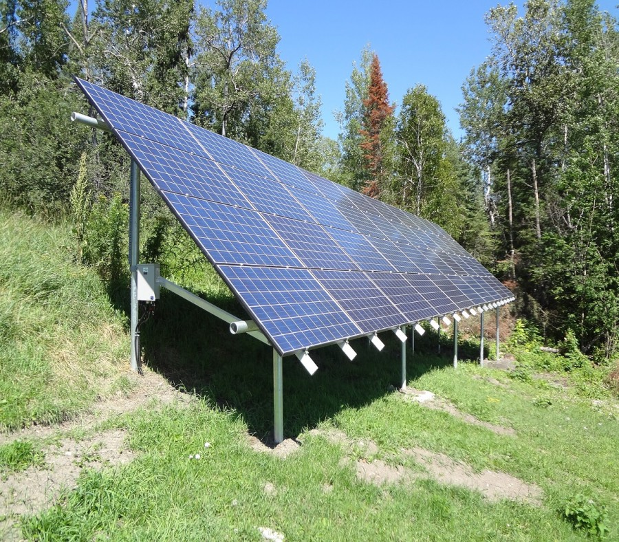 A ground-mounted solar PV array by RaySolar. http://raysolar.ca/case-studies/