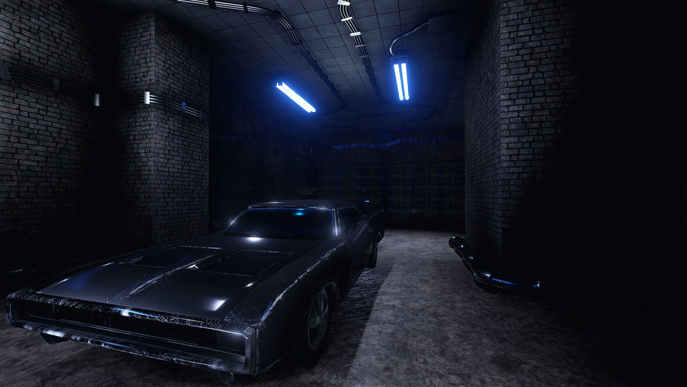 """Dodge Charger 1970"" Rendered in Unreal"