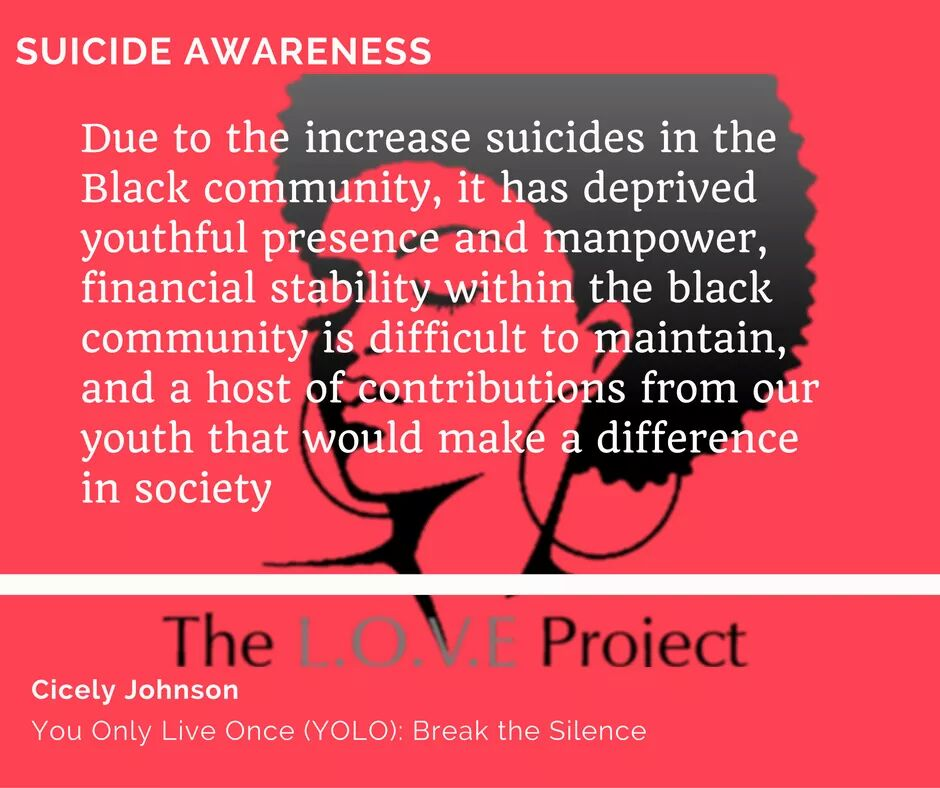 The devastating impact of suicide does not only affect their immediate support system, but the community as a whole.