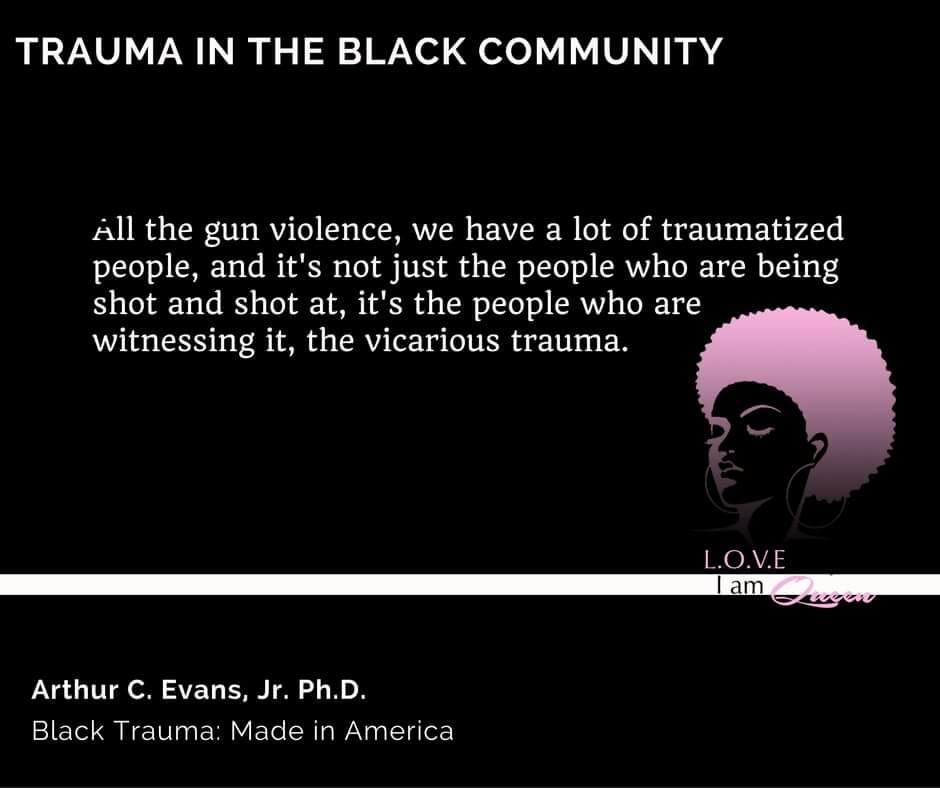 Many high rate community violence neighborhoods has negatively impacted residence psychologically.