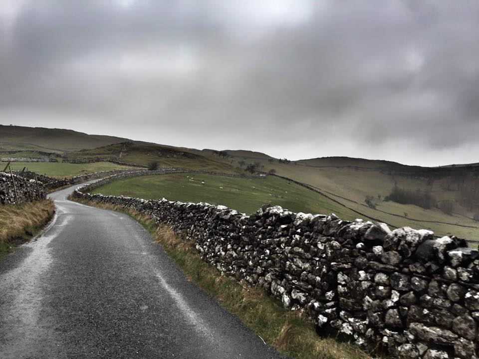 There isn't much time to taken in the views even if the roads are like these.